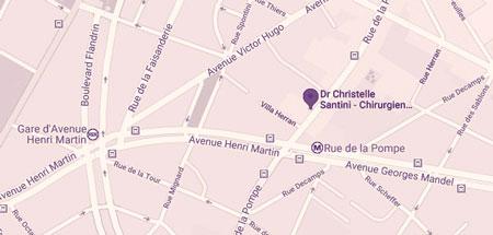 Plan du cabinet du docteur Santini à Paris